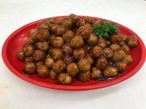 teriyaki meatballs, available at King Kullen