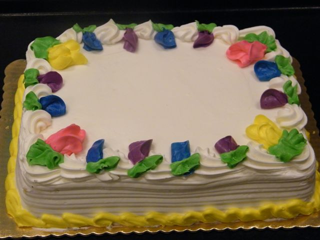 Sheet Cake With Flowers King Kullen