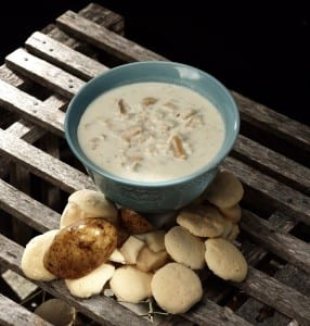 New England Clam Chowder - Consisting of tender clams, clam broth, fresh cream and potatoes. It's a true New England favorite.