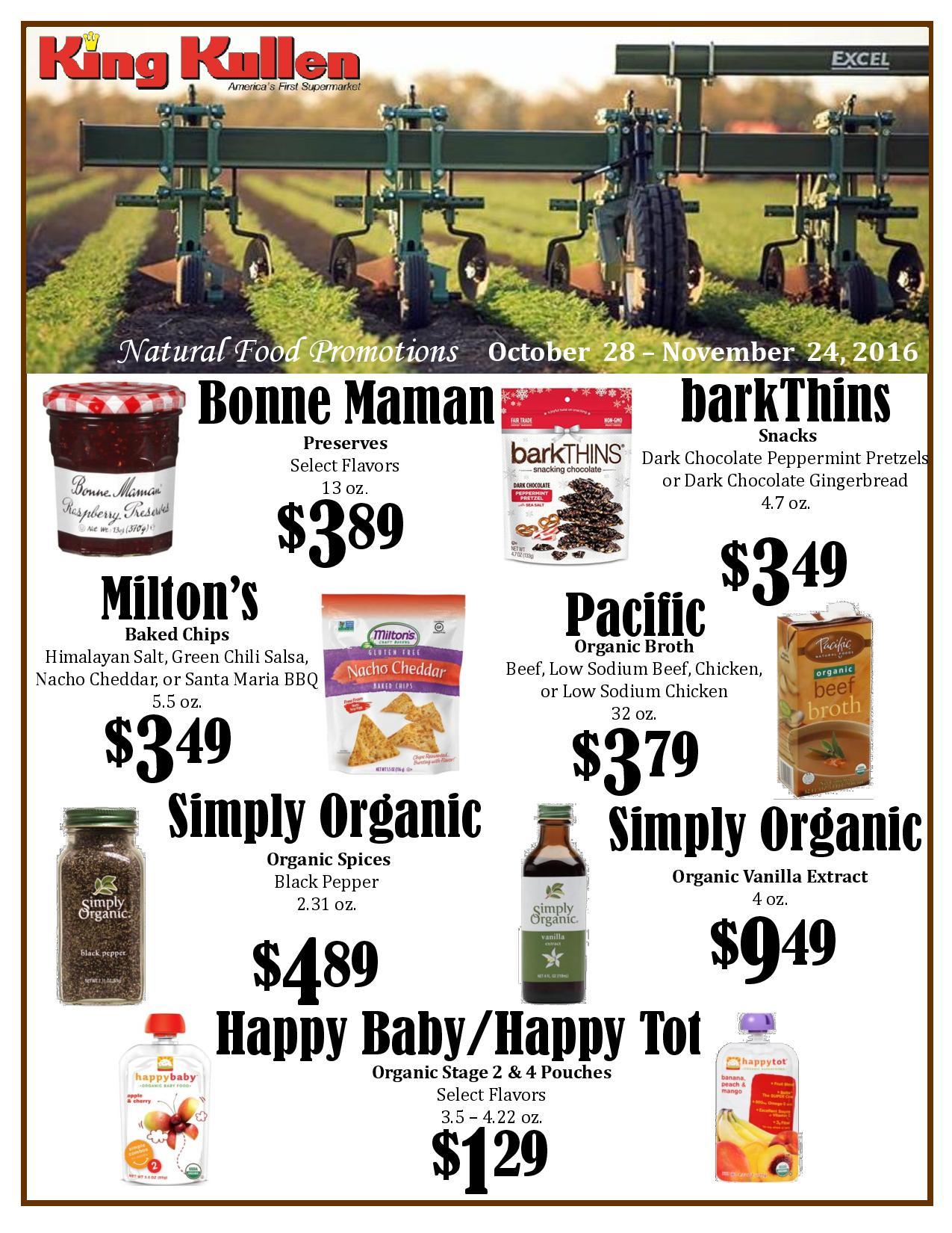 News Events King Kullen Natural Food Promotions King Kullen