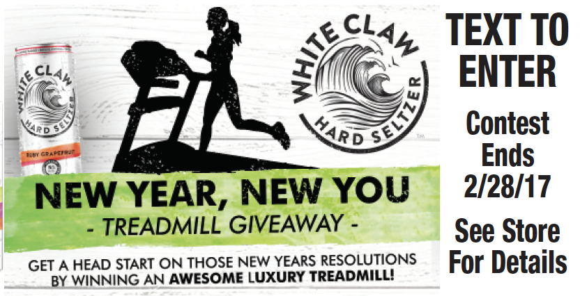 White Claw Hard Seltzer's Treadmill Giveaway - King Kullen