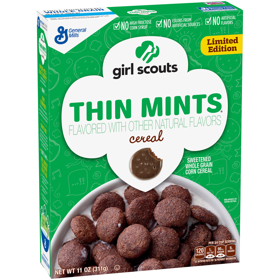 new product girl scouts cereal   king kullen