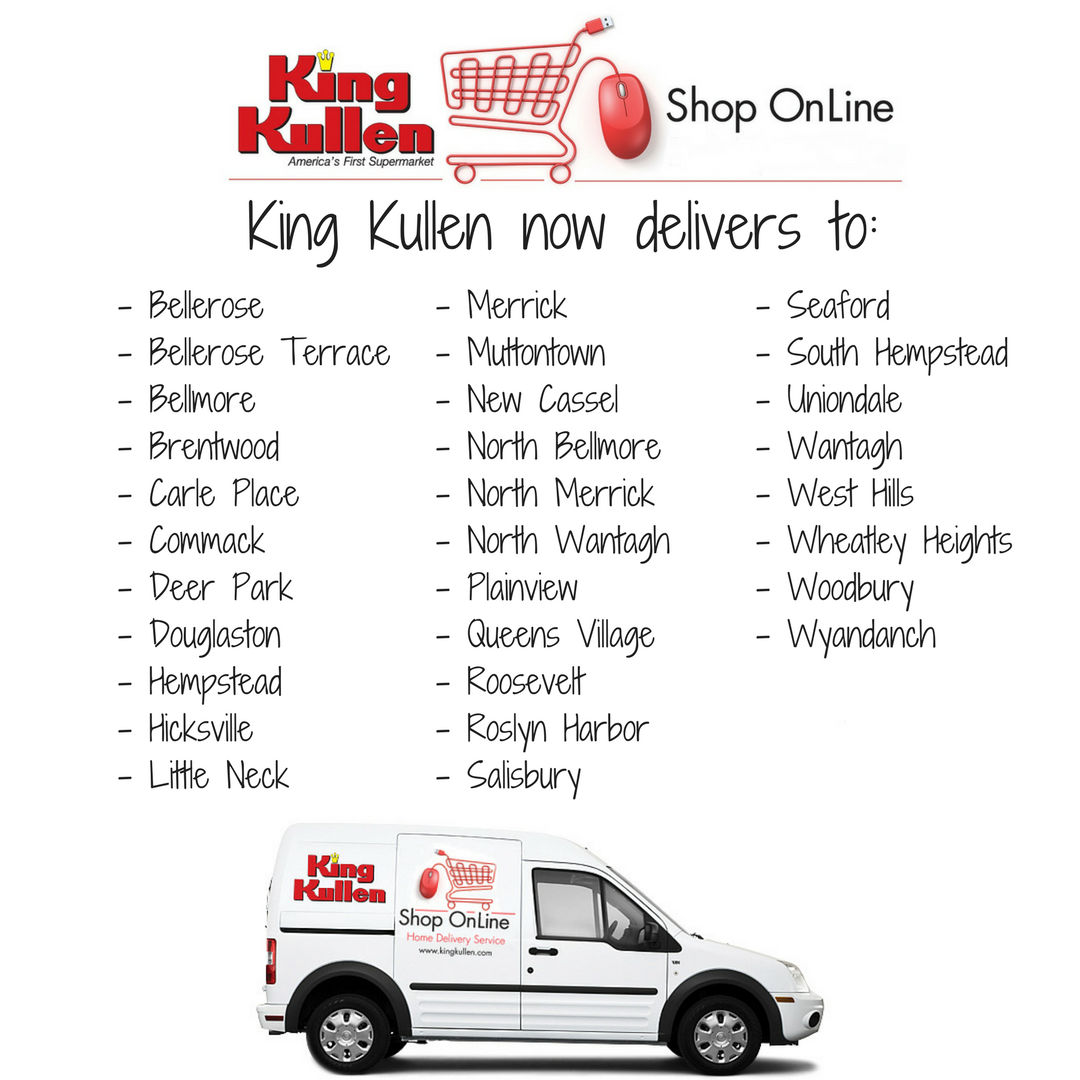 Shop OnLine Delivery to New Towns King Kullen