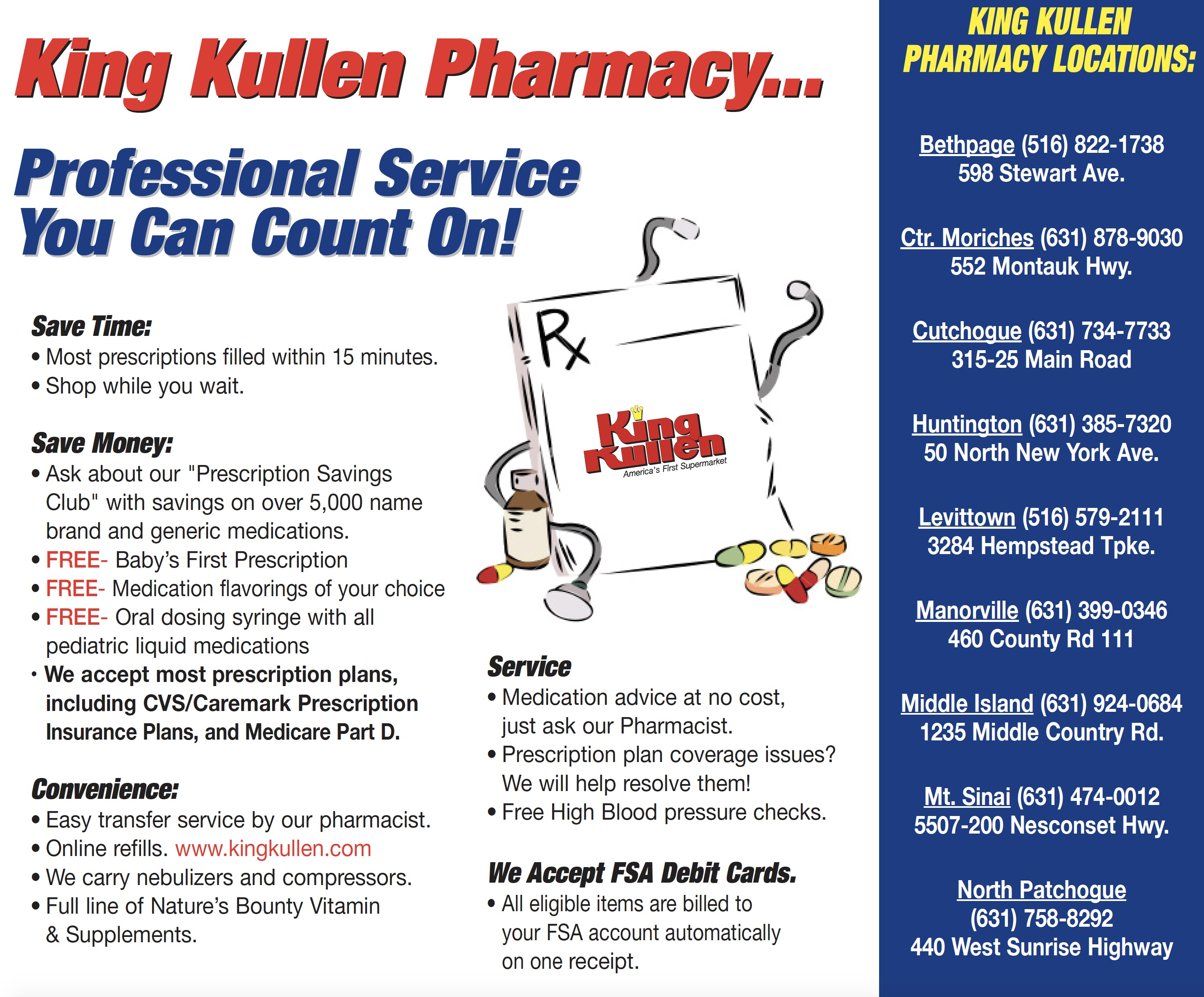 King Kullen Pharmacies Pharmacy Department Long Island NY