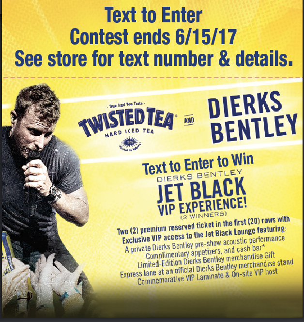 Dierks Bentley Concert Tickets: Win Tickets To See Dierks Bentley From Twisted Tea!