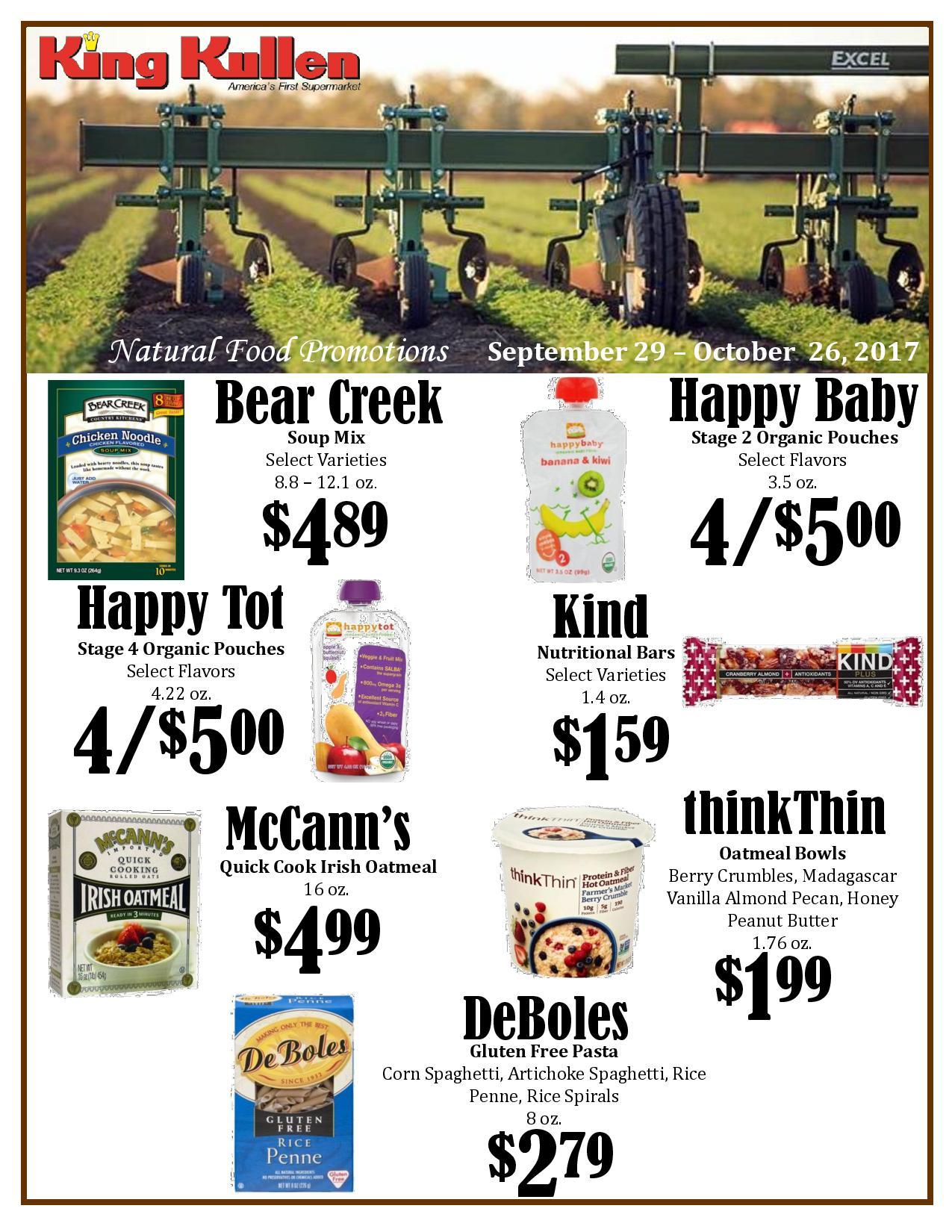 Natural Food Promotions King Kullen