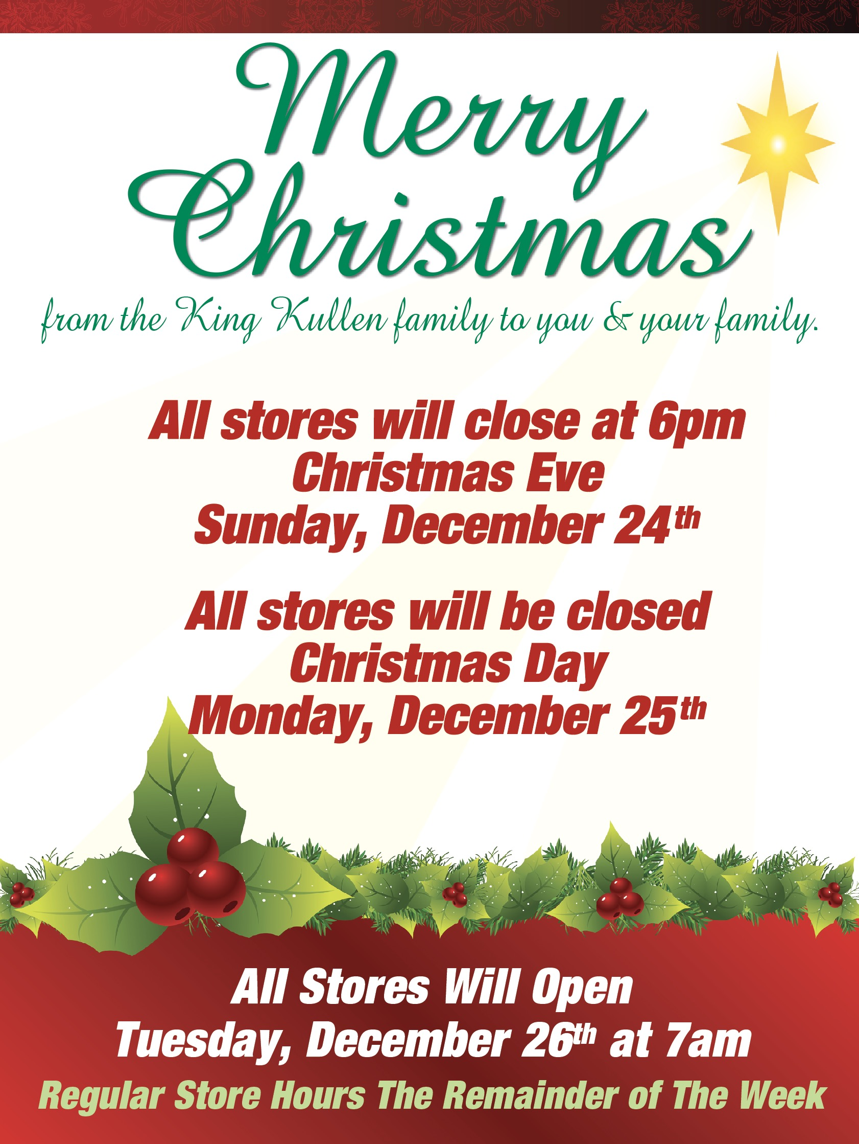 all stores will re open on tuesday december 26th at 7am - What Stores Will Be Open Christmas Day