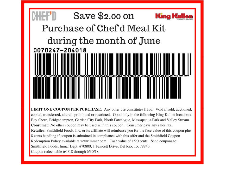 Chef 39 d june coupon king kullen for King kullen garden city park ny